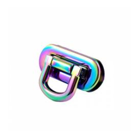 Rainbow - 1 Oval Flip Lock - (1 1/2 inch) - Emmaline Bags