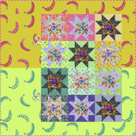 Fruit Salad Quilt- Monkey Wrench