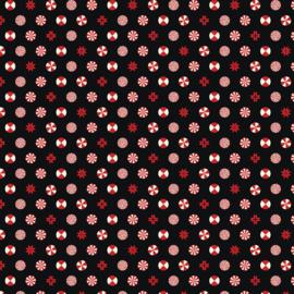 Peppermint Stars - Ink - FNTP005 - Tula Pink