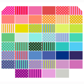 Tula Pink  - ALL STARS Bundle 46 - Solids-Stripes-PomPoms