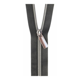 Black tape - Gunmetal - zipper - Sallie Tomato