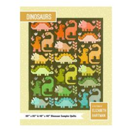 Dinosaurus - Quilt-Kit - stoffen + patroon - Elizabeth Hartman