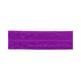 Fold Over Elastic - 20 mm - Paars