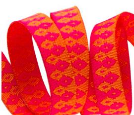 Tula Pink - TK-32 - Hot Pink on Orange Wanderer - 10mm