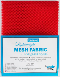 Mesh Fabric - Atomic Red - By Annie