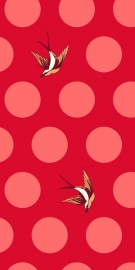 Tula Pink - Free Fall - Lipstick