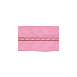 Roze - Zipper of the roll - per meter