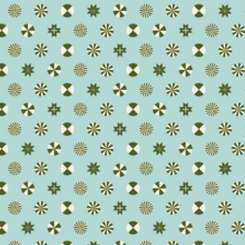 Peppermint Stars - Pine Fresh -PWTP108 - Tula Pink