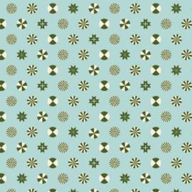 Tula Pink - PWTP108 - Peppermint Stars - Pine Fresh