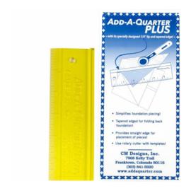 Add-A-Quarter  ruler 6 inch Plus