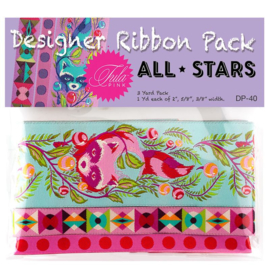 All Stars - Poppy - Ribbon Pack - 3 yards