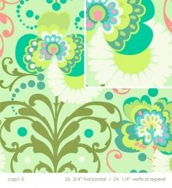 Amy Butler - HDABS 22 - Paradise Garden Mint
