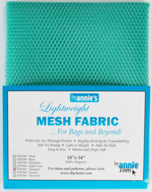 Mesh Fabric - Turquoise - By Annie