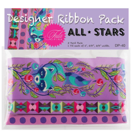 All Stars  - Foxglove - Ribbon pack - 3 yards