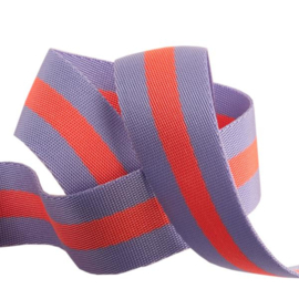 Lavender and Neon Peach - Tula Pink Webbing
