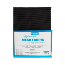 Mesh Fabric - Black - By Annie