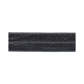 Fold-Over Elastic - 20 mm - Antraciet