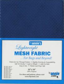 Mesh Fabric - Blastoff Blue - By Annie