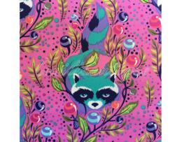 Tula Pink - PWTP037 - Raccoon Fuchsia