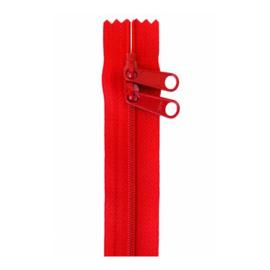 Atom Red - 30 inch zipper - By Annie