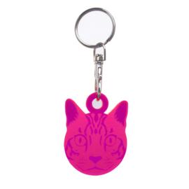 Cat Fob - sleutelhanger - Tula Pink  - Acryl