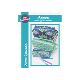 Annex - double zip box pouches - Patroon - Sew Sweetness