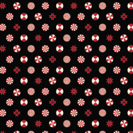 Peppermint Stars - Ink - PWTP108 - Tula Pink
