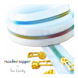 Rainbow zipper - Sew Quirky