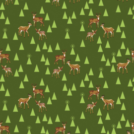 Tula Pink - PWTP106 - Bambi Life - Pine Fresh