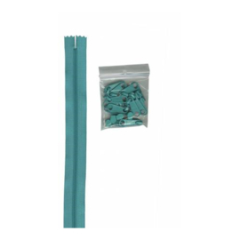 Turquoise - 4 yards - rits - By Annie