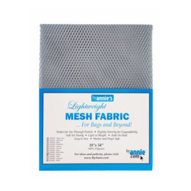 Mesh Fabric - Pewter - By Annie