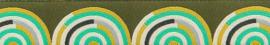 Tula Pink - TK-31 - Gold-Mint on Green Hypnotizer Ribbon - 22mm