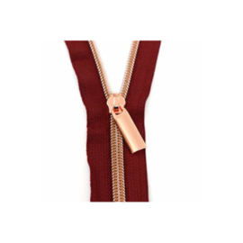 Burgundy Tape - Rose Gold - zipper - Sallie Tomato