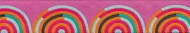 Tula Pink - TK-31 - Fuchsia-Orange on Pink Hypnotizer Ribbon - 22mm