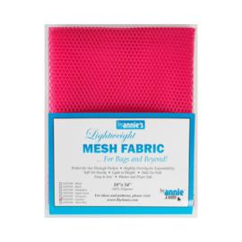 Mesh Fabric - Lipstick - By Annie