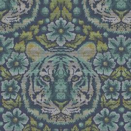 Tula Pink - PWTP077 - Crouchin Tiger Sapphire