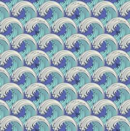 White Caps - Aqua Marine - PWTP122 - Tula Pink