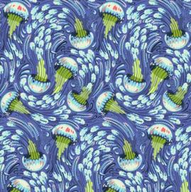 Sea Bloom - Aqua Marine - PWTP120 -  Tula Pink