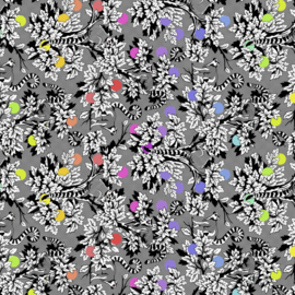 Lemur Me Alone - Ink - PWTP154 - Tula Pink