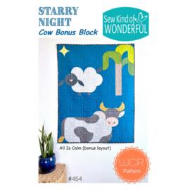 Cow bonus Block - Starry Night - Sew Kind of wonderful