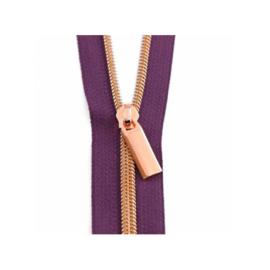 Purple Tape - Rose Gold - zipper - Sallie Tomato