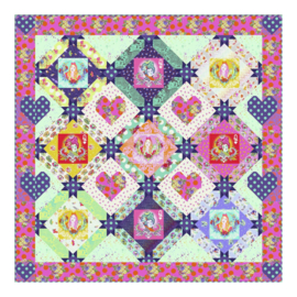 Queen of Hearts Quilt - Quilt Kit - Tula Pink