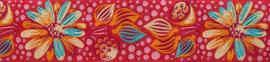 Tula Pink – TK 21 – Red Meadow Bloom Ribbon 38 mm