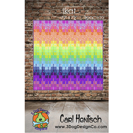 IKAT - quilt kit  Carl Hentsch / 3 Dog Design