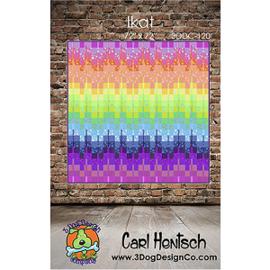 Ikat - quiltpatroon - 3 Dog Design/Carl Hentsch