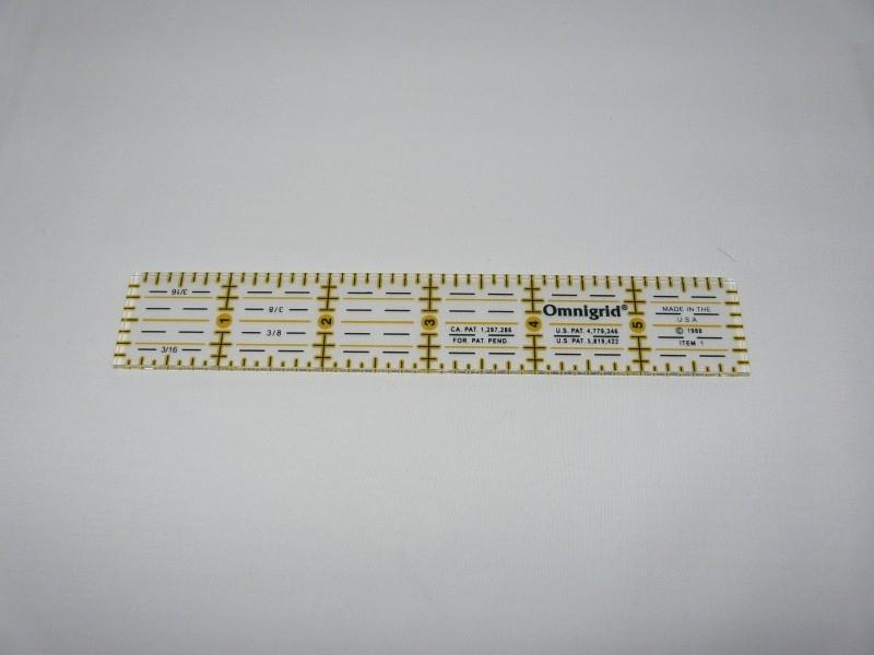 """Omnigrid ruler 1"""" x 6""""  INCH"""