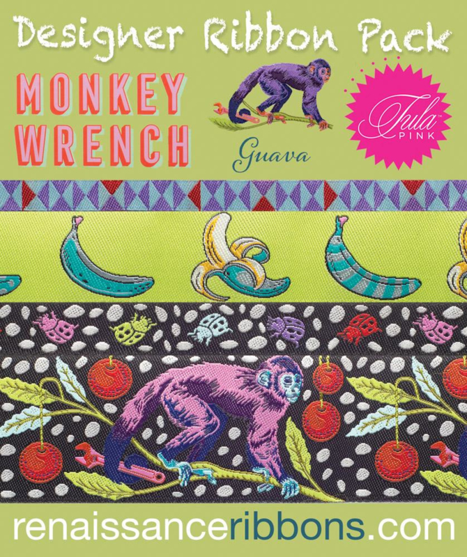 Monkey Wrench - Guave - Ribbon Pack - 4 yards