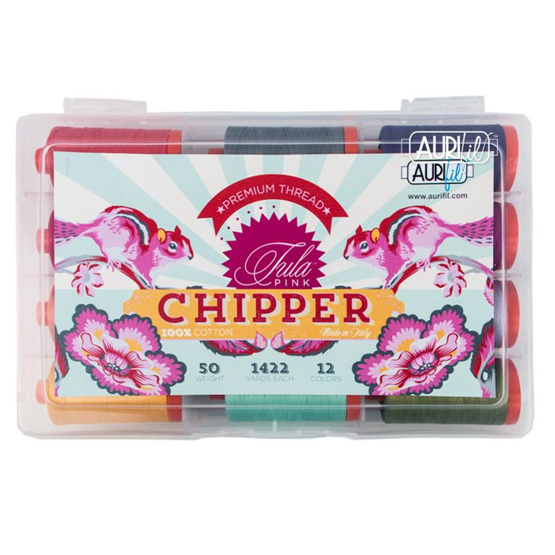 Aurifill - Chipper - 50w  - 12 kleuren Tula Pink