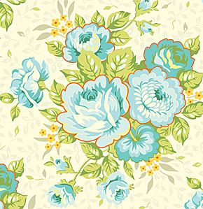 Heather Bailey - SAHB002 St Charles Bouquet Blue