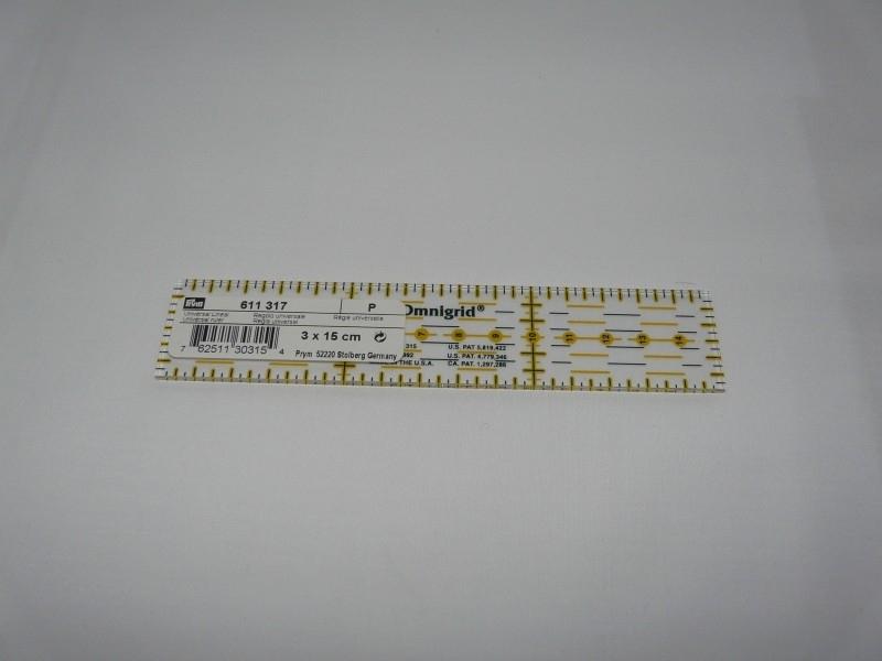 Omnigrid ruler 3 x 15 cm